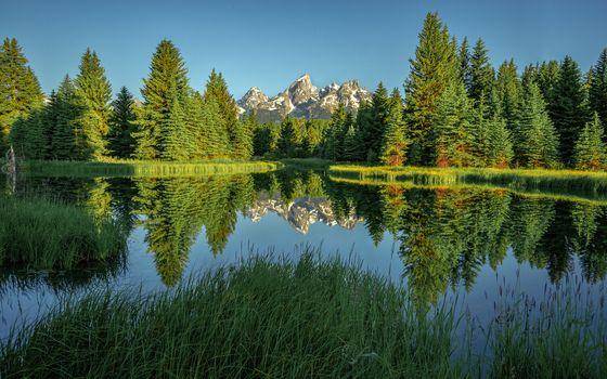 Фото бесплатно Национальный парк Гранд-Титон, Штате, Вайоминг
