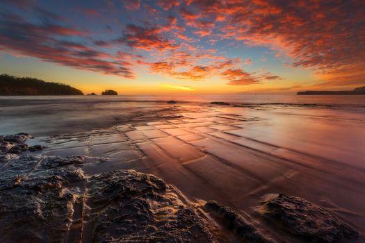 Фото бесплатно Тасмании, закат, Тасман национальный парк