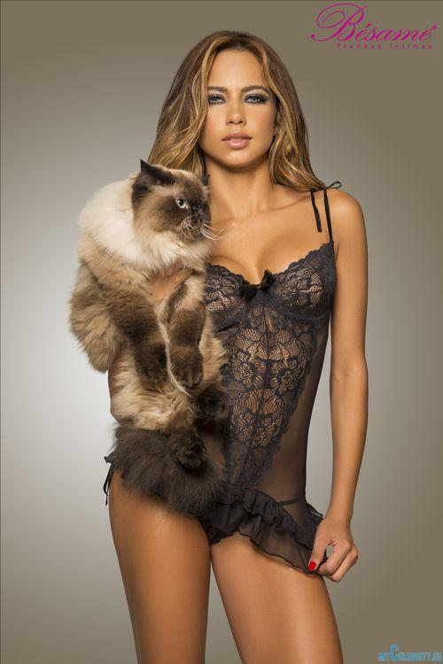 Девушка с кошкой · бесплатное фото