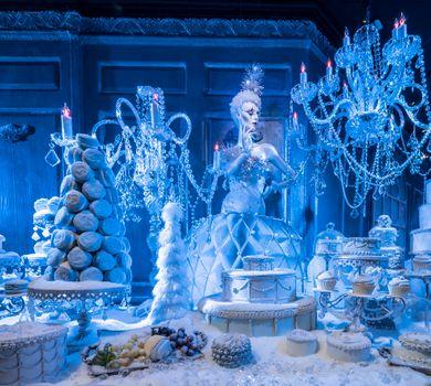 Бесплатные фото Ледяная принцесса,рождество,комната льда,украшения,сладости,торты