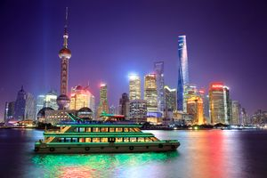 Фото бесплатно Pearl Tower, Shanghai, ночь