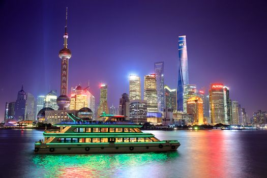 Photo free Pearl Tower, Shanghai, night