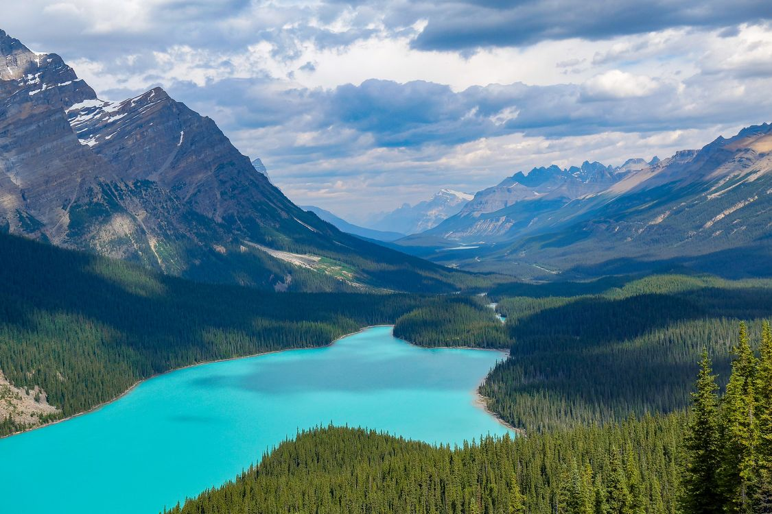 Photos for free Peyto Lake, nature, landscape - to the desktop