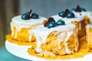 Фото бесплатно торты, черника, крем