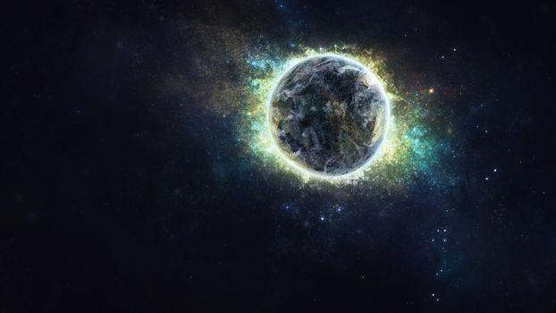 Фото бесплатно планета, сияющая, галактика