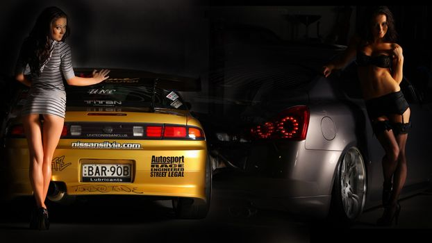 Фото бесплатно Девушки, и, машины