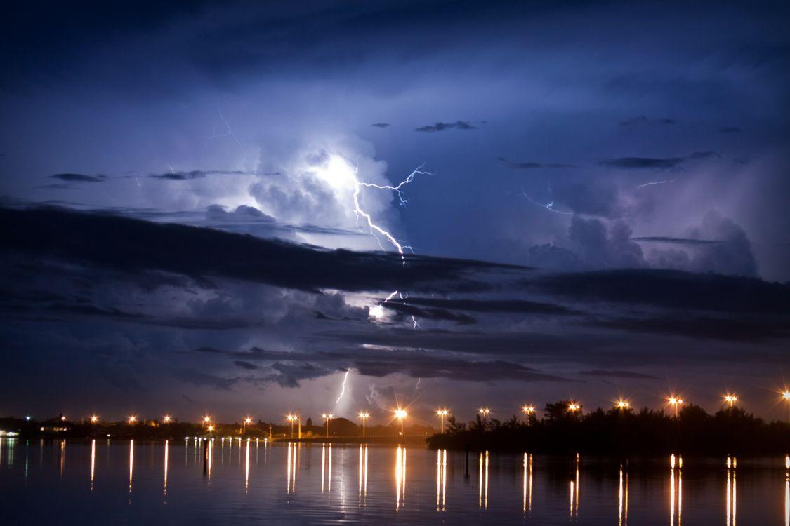 Фото бесплатно Florida, Флорида, молния, шторм, непогода, вспышка, разряд - на рабочий стол