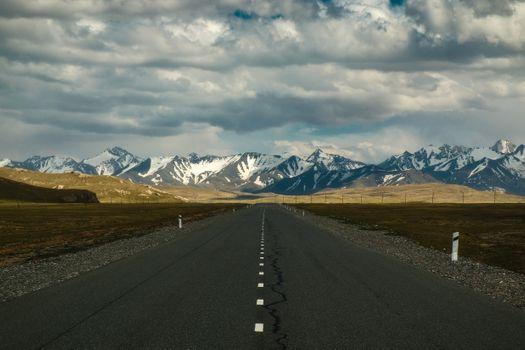 Фото бесплатно горы, дорога, шоссе