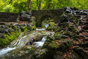 Бесплатные фото бад урах,водопад,швабский альб,ущелье,лес,мост,ступени