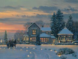 Фото бесплатно тележки, Санта-Клаус, праздничные