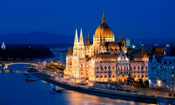 Photo free The Danube, the Parliament Building, Budapest