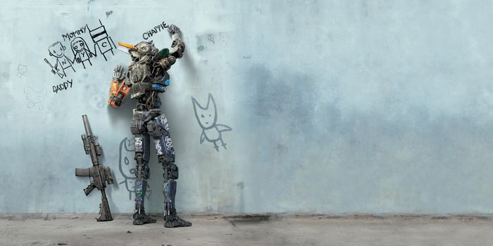 Photo free A robot named Chappie 2015, fantasy, action