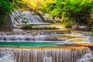 Фото бесплатно пороги, водопад, течение