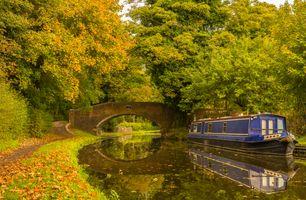 Фото бесплатно Стаффордширский и вустерширский канал в Кинвере, Кинвер, Стаффордшир