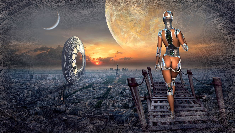 Фото бесплатно Робот, планета, париж - на рабочий стол