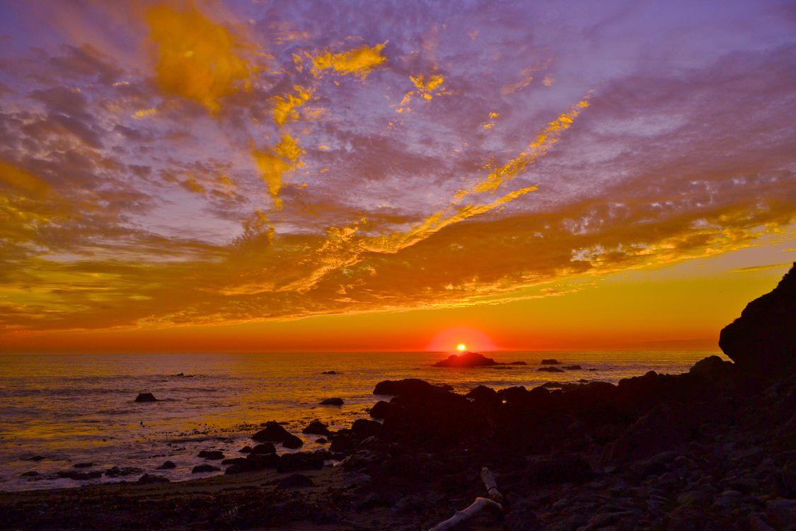 Красное морское солнце · бесплатное фото