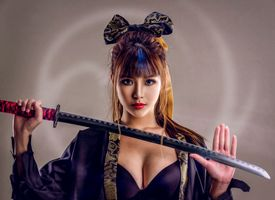 Girl samurai - beauty · free photo