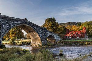 Фото бесплатно мост, река Конви, Конви