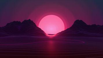 Фото бесплатно Neon, Sunset, произведения искусства