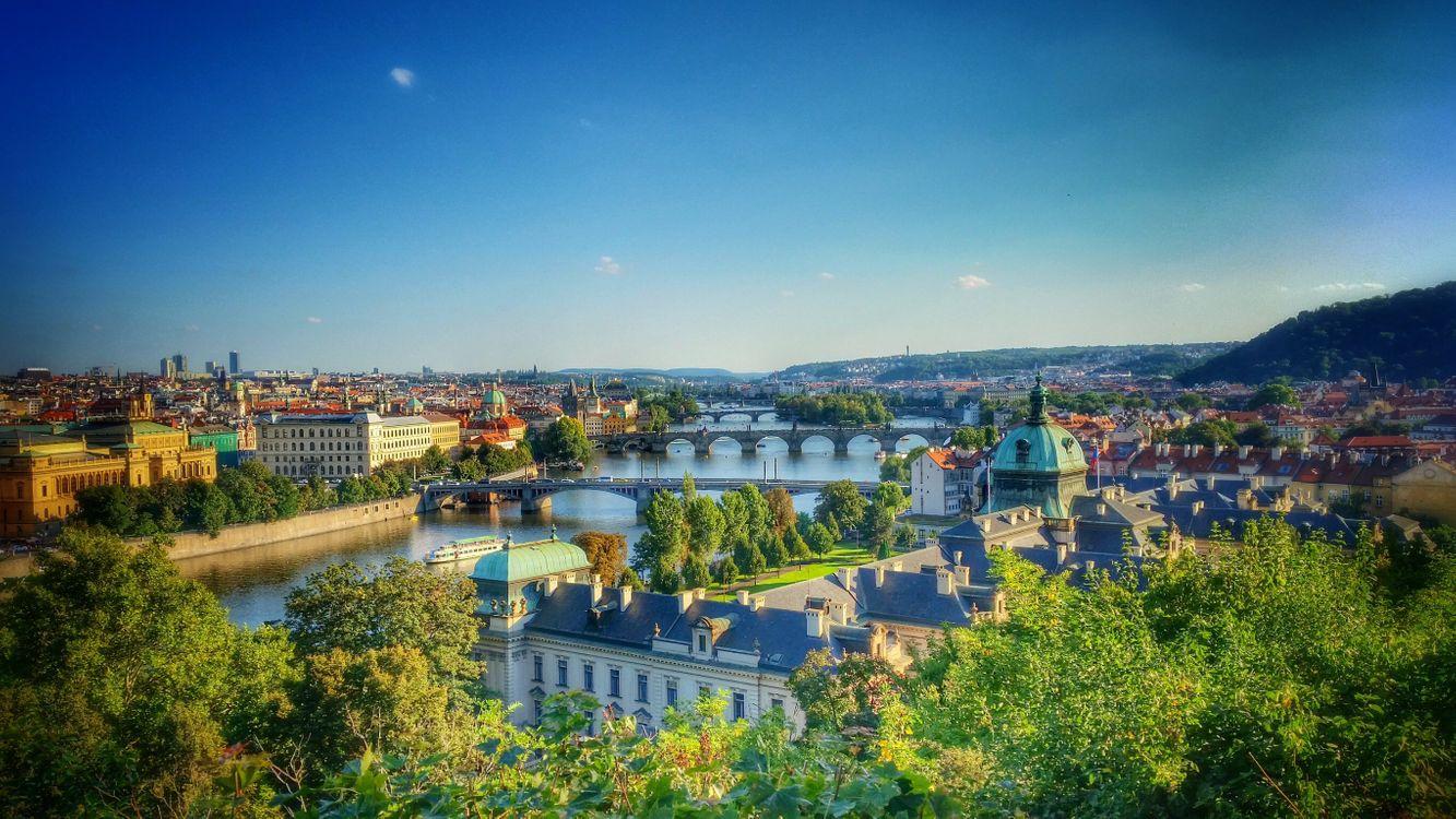 Фото бесплатно Czech Republic, Река Влтава, Пражский град - на рабочий стол