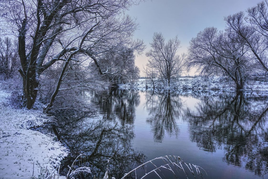 Фото бесплатно зима, пейзаж, отражение - на рабочий стол