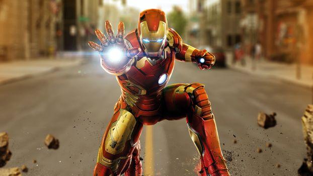 Фото бесплатно железный человек, мстители, супергерои