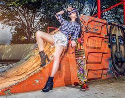 Фото бесплатно Thais Silva, девушка, девушки, макияж, лицо, косметика, стиль, гламур, красота, модель, красивый макияж, красотка, настроение, причёска, поза, позы, фотосессия