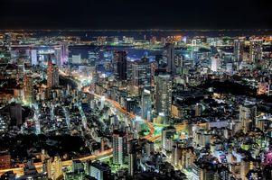 Заставки Токио,Япония,ночные города