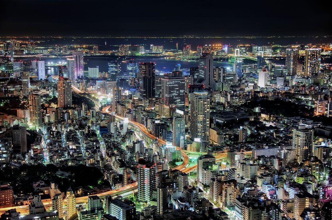 Фото бесплатно Токио, Япония, ночные города - на рабочий стол