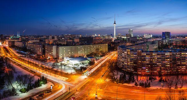 Фото бесплатно Германия, огни, ночные города