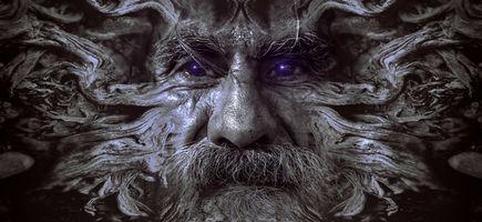 Бесплатные фото портрет,фантазия,лицо,человек,старый,корень,древесины
