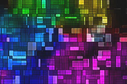 Фото бесплатно цветопередача, разноцветные огни, абстракция