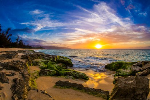 Photo free Beautiful North Shore Sunset on Oahu, Hawaii, sunset