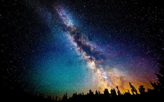 Фото бесплатно Млечный Путь, звезды, небо