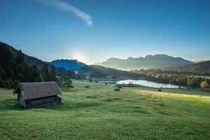Фото бесплатно Альпы, Бавария, Партенкирхен