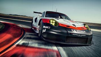 Фото бесплатно Porsche 911, наклейки, спортивный