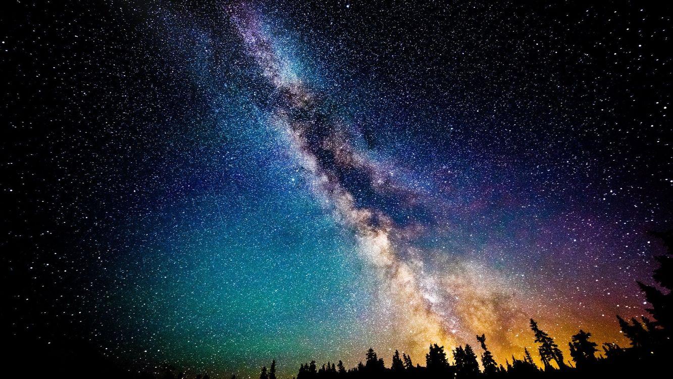 Фото бесплатно космос, звезды, цвет - на рабочий стол