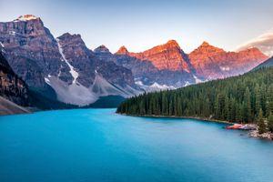 Бесплатные фото Lake Moraine, Canada, Озеро Морейн, Альберта, Канада, озеро, горы