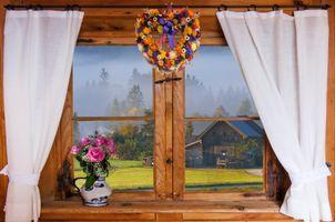 Фото бесплатно окно, натюрморт, ваза