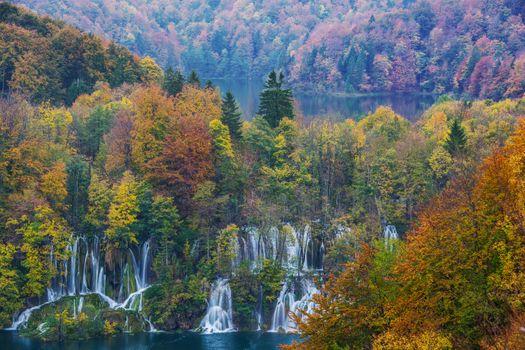 Бесплатные фото Плитвицкие озера,Национальный парк Плитвицкие озера,Plitvice Lakes national park,Croatia,Хорватия,осень водопад,природа,пейзаж