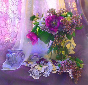 Photo free background, flowers, vase