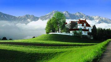 Фото бесплатно дворец, горы, коттедж