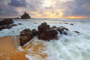 Фото бесплатно пляж, рассвет, сумерки