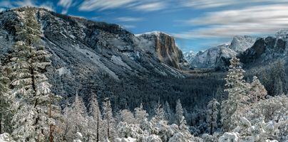 Бесплатные фото Yosemite National Park,California,Национальный парк Йосемити,Калифорния,зима,горы,деревья