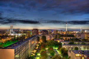 Photo free architecture, night city, city