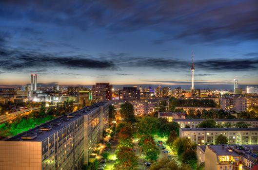 Фото бесплатно архитектура, ночной город, город