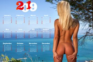 Бесплатные фото Бригитта,блондинка,на улице,голые,загорелые,киска,попка