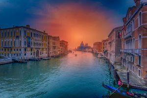 Бесплатные фото Grand Canal,Venice,Гранд-Канал,Венеция,Италия,закат,город