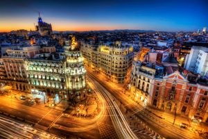 Фото бесплатно Madrid, Spain, Calle Gran Via
