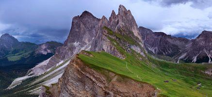 Бесплатные фото Odle peaks,Seceda,Dolomites,Italy